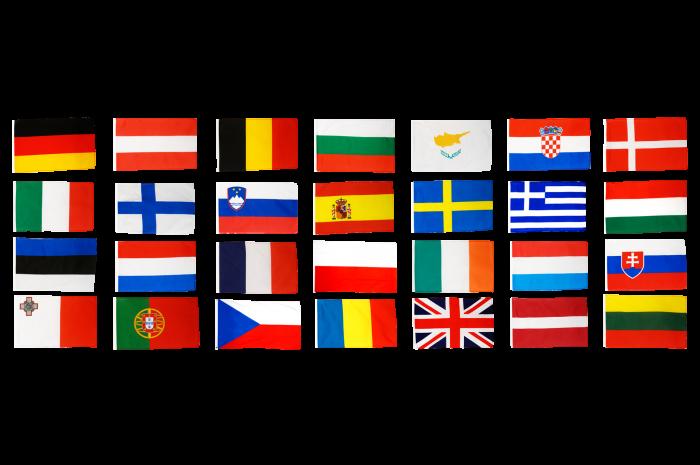 flaggen set europäische union eu 28 staaten  30 x 45 cm