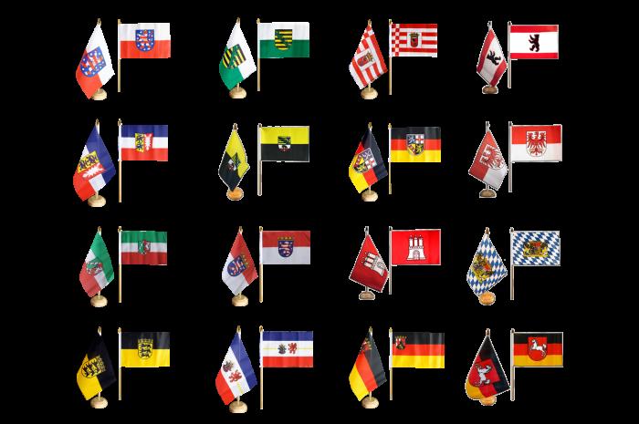 S Tischflaggenst/änder schwarz lackiert optional mit 42 cm Holz edle Ausf/ührung Niedersachsen 15x25 cm Tischflagge