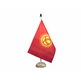Flaggenfritze/® Tischflagge Kirgisistan Kirgistan 10x15 cm