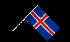 Stockflagge Island - 60 x 90 cm