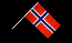 Stockflagge Norwegen - 60 x 90 cm