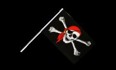 Stockflagge Pirat mit Kopftuch - 60 x 90 cm