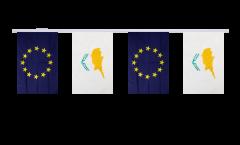 Freundschaftskette Zypern - Europäische Union EU - 15 x 22 cm