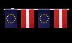 Freundschaftskette Lettland - Europäische Union EU - 15 x 22 cm