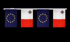Freundschaftskette Malta - Europäische Union EU - 15 x 22 cm