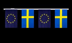 Freundschaftskette Schweden - Europäische Union EU - 15 x 22 cm