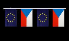 Freundschaftskette Tschechische Republik - Europäische Union EU - 15 x 22 cm