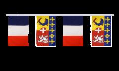 Freundschaftskette Frankreich - Rhône-Alpes - 30 x 45 cm