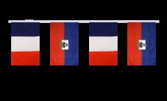 Freundschaftskette Frankreich - Haiti - 15 x 22 cm