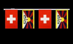 Freundschaftskette Schweiz - Tibet - 15 x 22 cm