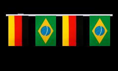 Freundschaftskette Deutschland - Brasilien - 15 x 22 cm