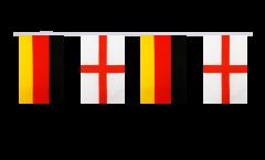 Freundschaftskette Deutschland - England - 15 x 22 cm