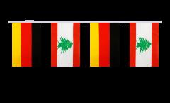 Freundschaftskette Deutschland - Libanon - 15 x 22 cm