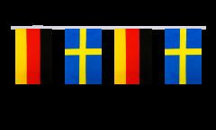 Freundschaftskette Deutschland - Schweden - 15 x 22 cm