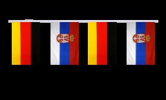 Freundschaftskette Deutschland - Serbien mit Wappen - 15 x 22 cm