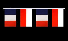 Freundschaftskette Frankreich - Polen - 15 x 22 cm