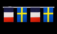 Freundschaftskette Frankreich - Schweden - 15 x 22 cm