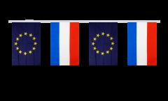 Freundschaftskette Luxemburg - Europäische Union EU - 15 x 22 cm