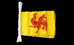 Fahnenkette Belgien Wallonien - 30 x 45 cm