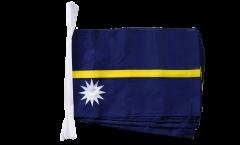 Fahnenkette Nauru - 30 x 45 cm