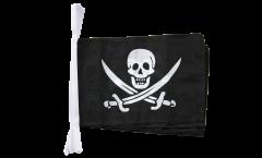 Fahnenkette Pirat mit zwei Schwertern - 30 x 45 cm