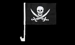 Autofahne Pirat mit zwei Schwertern - 30 x 40 cm