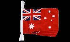 Fahnenkette Australien Red Ensign Handelsflagge - 30 x 45 cm