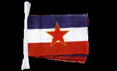 Fahnenkette Jugoslawien alt - 30 x 45 cm
