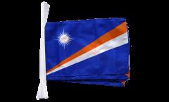 Fahnenkette Marshall Inseln - 30 x 45 cm