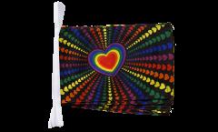 Fahnenkette Regenbogen Liebe - 30 x 45 cm