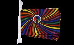 Fahnenkette Regenbogen Peace Swirl - 30 x 45 cm