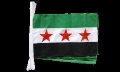 Fahnenkette Syrien 1932-1963 / Opposition - Freie Syrische Armee - 30 x 45 cm