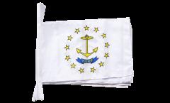 Fahnenkette USA Rhode Island - 30 x 45 cm