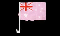 Autofahne Australien Pink - 30 x 40 cm