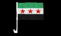 Autofahne Syrien 1932-1963 / Opposition - Freie Syrische Armee - 30 x 40 cm