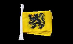 Fahnenkette Belgien Flandern - 15 x 22 cm