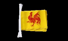 Fahnenkette Belgien Wallonien - 15 x 22 cm