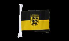 Fahnenkette Deutschland Baden-Württemberg - 15 x 22 cm