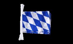 Fahnenkette Deutschland Bayern ohne Wappen - 15 x 22 cm