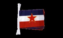 Fahnenkette Jugoslawien alt - 15 x 22 cm