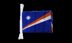 Fahnenkette Marshall Inseln - 15 x 22 cm