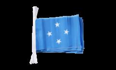 Fahnenkette Mikronesien - 15 x 22 cm