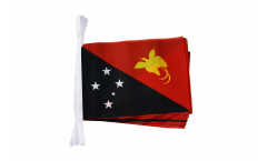 Fahnenkette Papua-Neuguinea - 15 x 22 cm