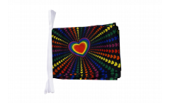 Fahnenkette Regenbogen Liebe - 15 x 22 cm