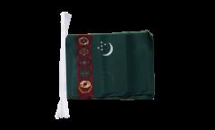 Fahnenkette Turkmenistan - 15 x 22 cm
