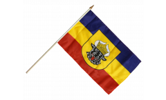 Flaggenfritze/® Stockflagge Deutschland Oberpfalz 30 x 45 cm