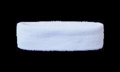 Stirnband Einfarbig Weiß - 6 x 21 cm