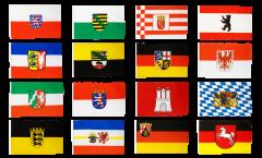Fahnen Set Deutschland 16 Bundesländer - 60 x 90 cm