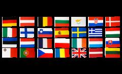 Fahnen Set Europäische Union EU 28 Staaten - 60 x 90 cm