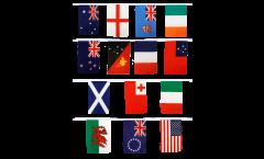 Fahnenkette Rugby WM 2013 - 15 x 22 cm